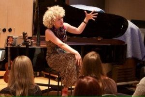 Participating in Songwriting Workshop with Fiona Bevan
